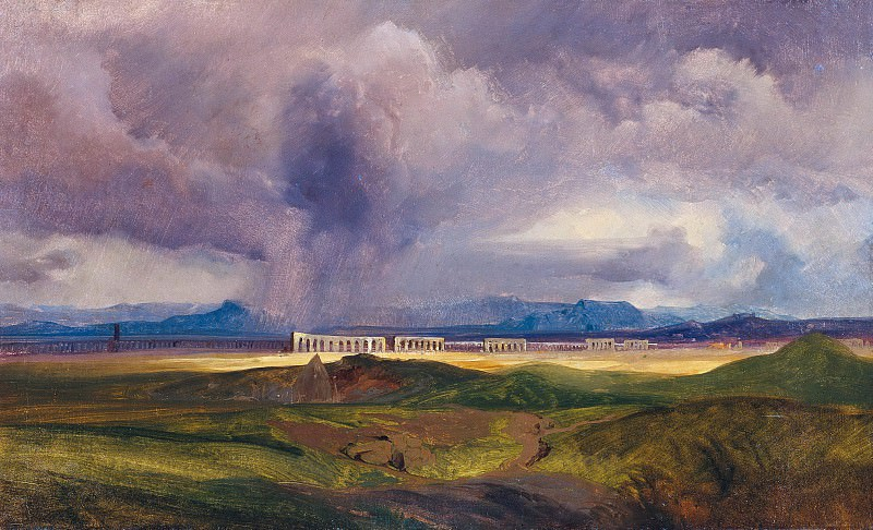 Severe Weather in the Roman Campagna. Carl Blechen