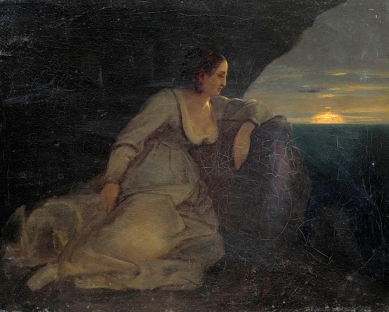 Italienerin by the sea. Carl Blechen