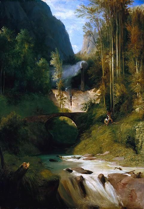 Gorge near Amalfi. Carl Blechen