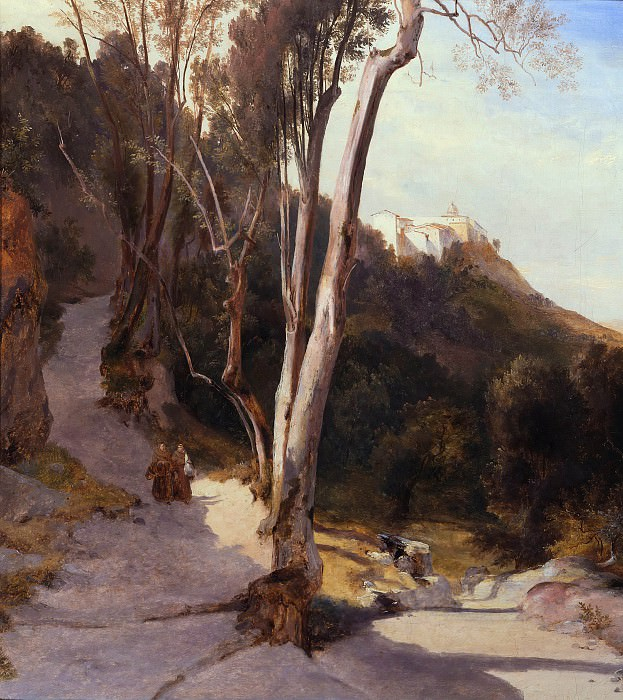 Way to Castel Gandolfo. Carl Blechen