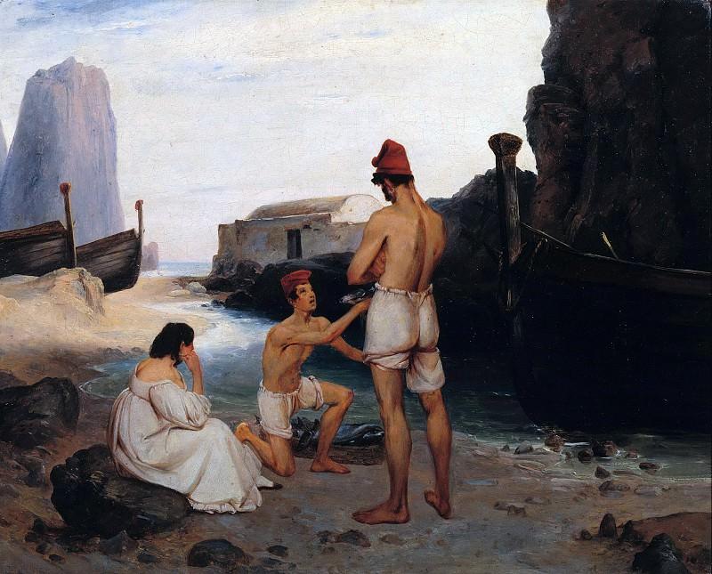 Fishermen on Capri. Carl Blechen