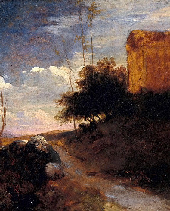 Italian landscape. Carl Blechen