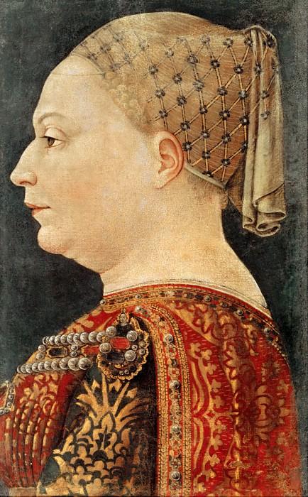 Portrait of Bianca Maria Sforza. Bonifacio Bembo