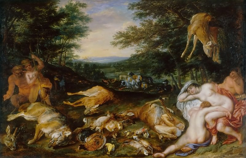 Diana and Nymphs after the hunt. Jan Brueghel the Younger