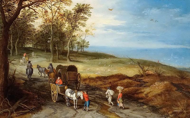 Пейзаж с путниками. Ян Брейгель Младший