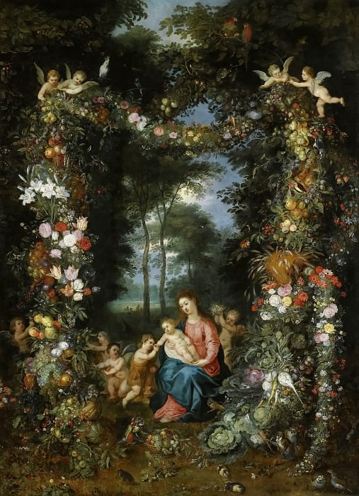 Madonna and Child with young Saint John the Baptist. Jan Brueghel the Younger