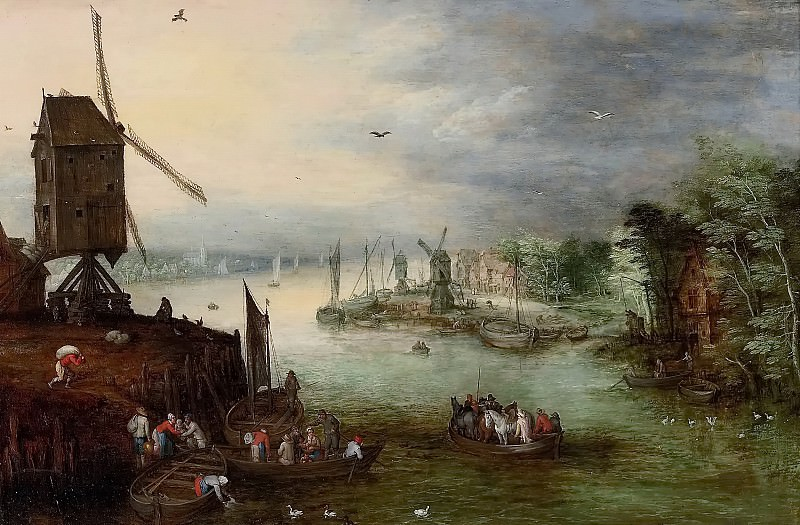River Landscape with a Mill. Jan Brueghel the Younger