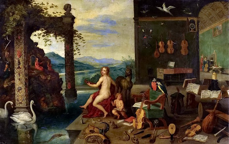 Allegory of music. Jan Brueghel the Younger