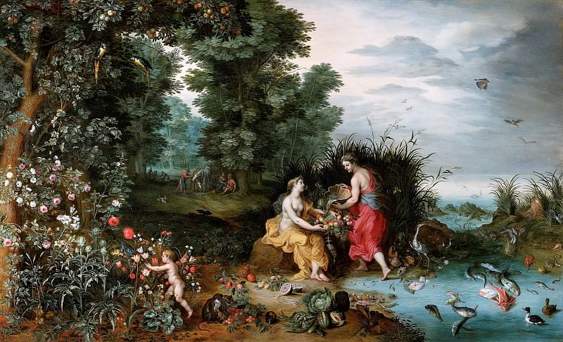 Allegory of Earth and Water. Jan Brueghel the Younger