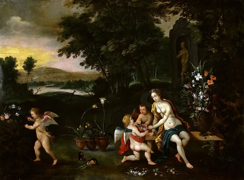 Flora and putti. Jan Brueghel the Younger