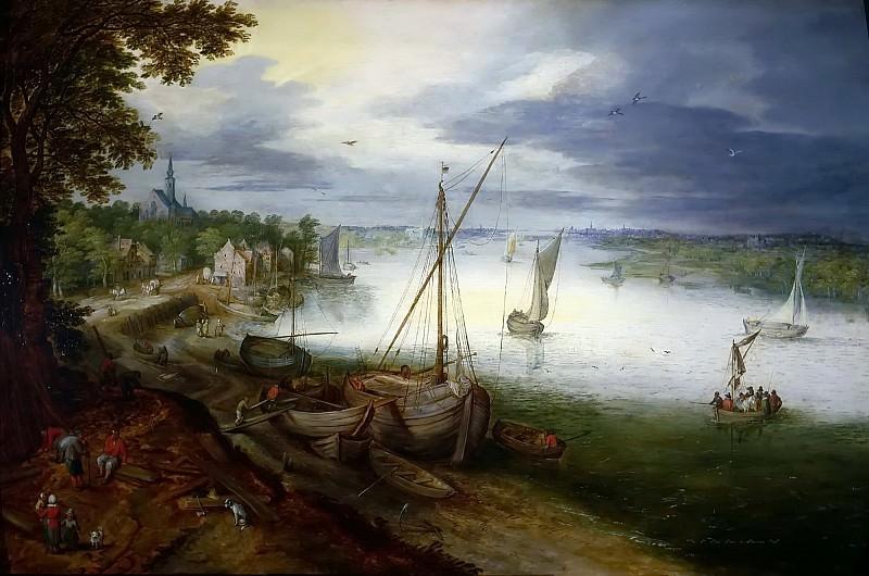 View of the Scheldt near Antwerp. Jan Brueghel the Younger