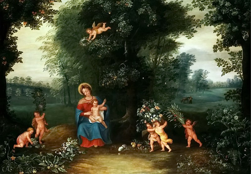 Madonna and Child in a Landscape. Jan Brueghel the Younger