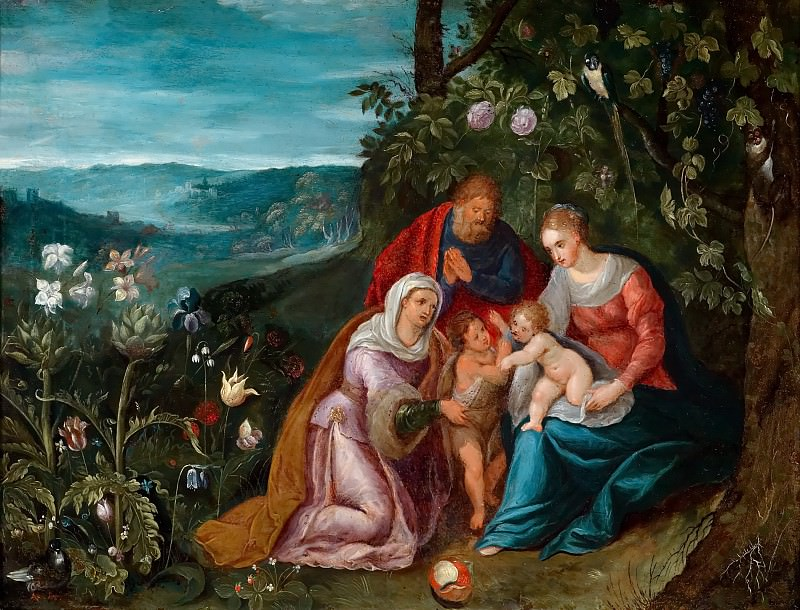 The Holy Family with St. Elizabeth. Jan Brueghel the Younger