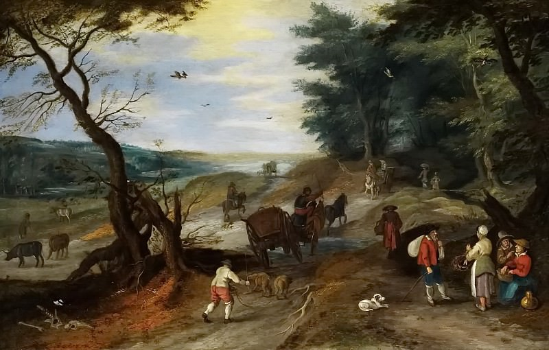 Landscape with travelers. Jan Brueghel the Younger
