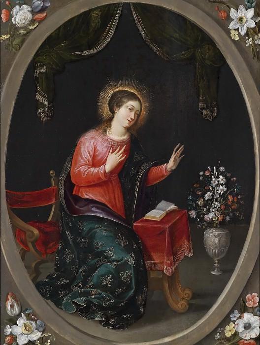 Дева Мария с букетом цветов. Ян Брейгель Младший