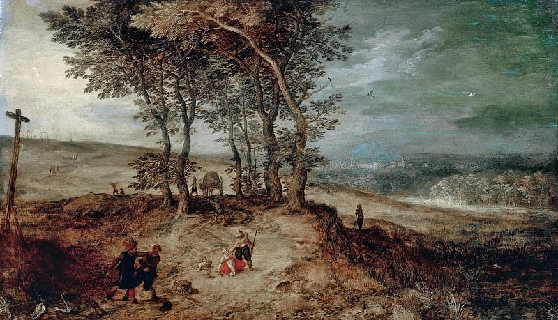 Attack by Brigands. Jan Brueghel the Younger