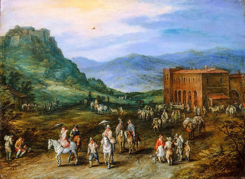 Landscape with Riders. Jan Brueghel the Younger