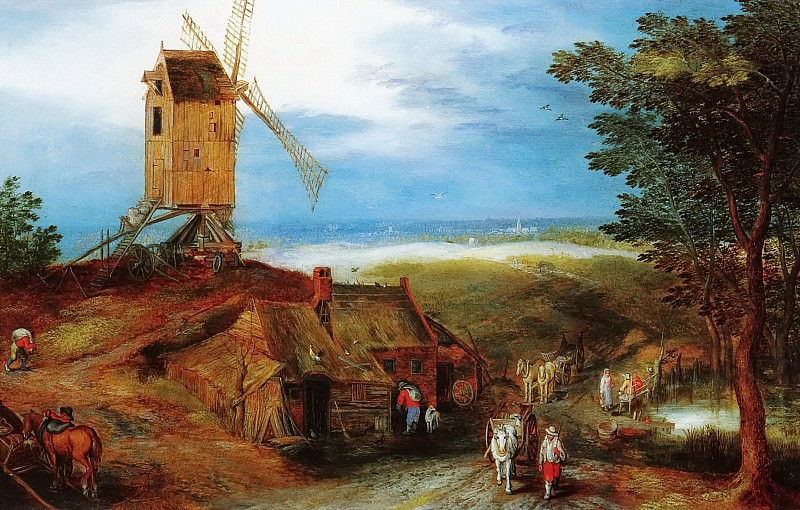 Landscape with a Mill. Jan Brueghel the Younger