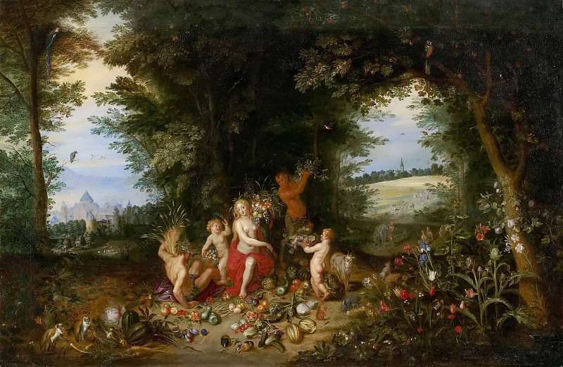 Landscape with Ceres (Allegory of Earth). Jan Brueghel the Younger