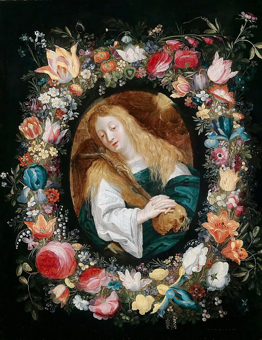 Magdalene in a flower garland. Jan Brueghel the Younger