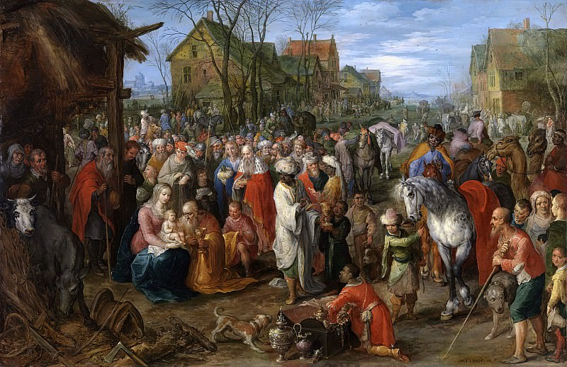 The Adoration of the Magi. Jan Brueghel the Younger