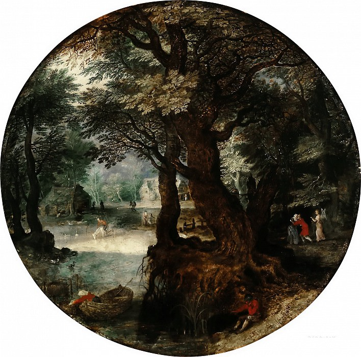 Landscape (Farewell to Tobias with his mother). Jan Brueghel the Younger