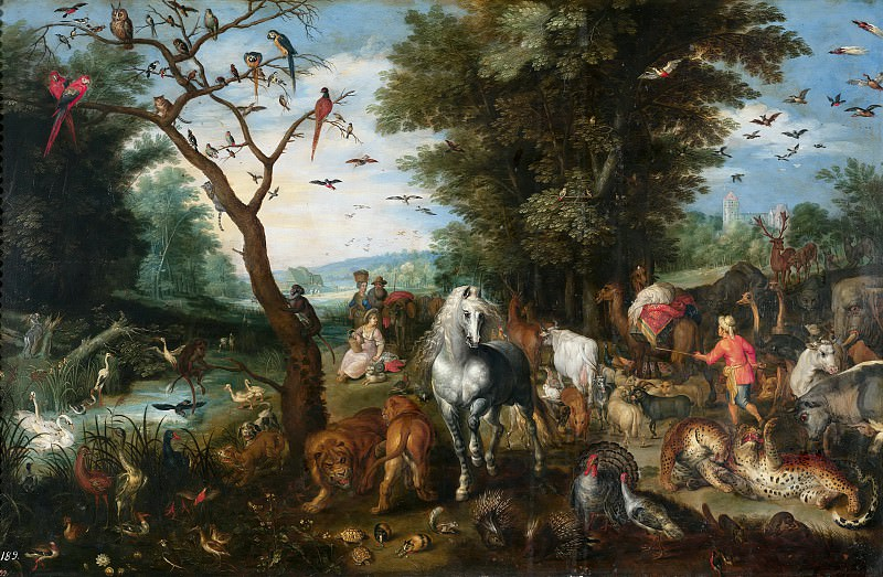 Entry into Noah's Ark. Jan Brueghel the Younger