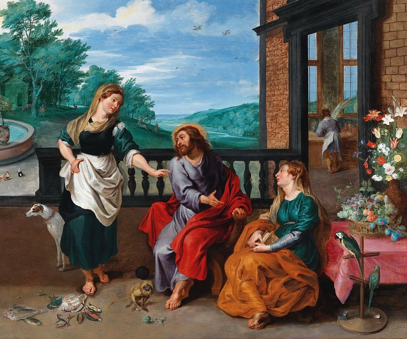 Christ in the House of Martha and Mary. Jan Brueghel the Younger
