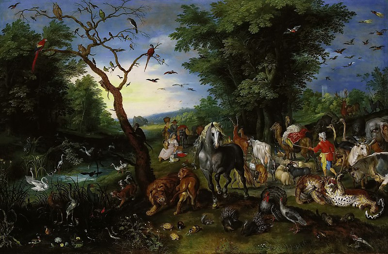 The entry of the animals in Noah's Ark. Jan Brueghel the Younger