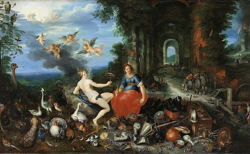 Аллегория Огня и Воздуха (фигуры Франса Франкена II). Ян Брейгель Младший