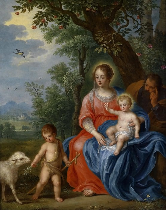 The Holy Family with the Infant Saint John the Baptist and the Lamb. Jan Brueghel the Younger