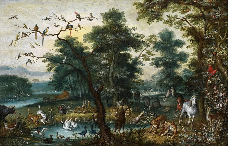 Paradise scene with the Fall of Man. Jan Brueghel the Younger