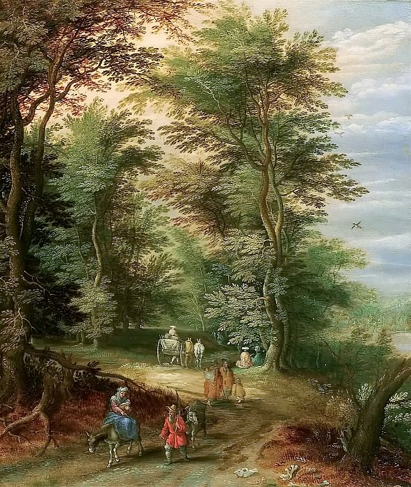 Landscape with the Flight into Egypt. Jan Brueghel the Younger