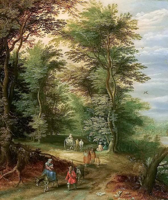 Пейзаж с бегством в Египет. Ян Брейгель Младший