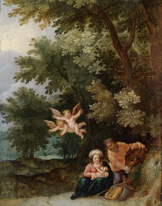 Rest on the Flight into Egypt. Jan Brueghel the Younger
