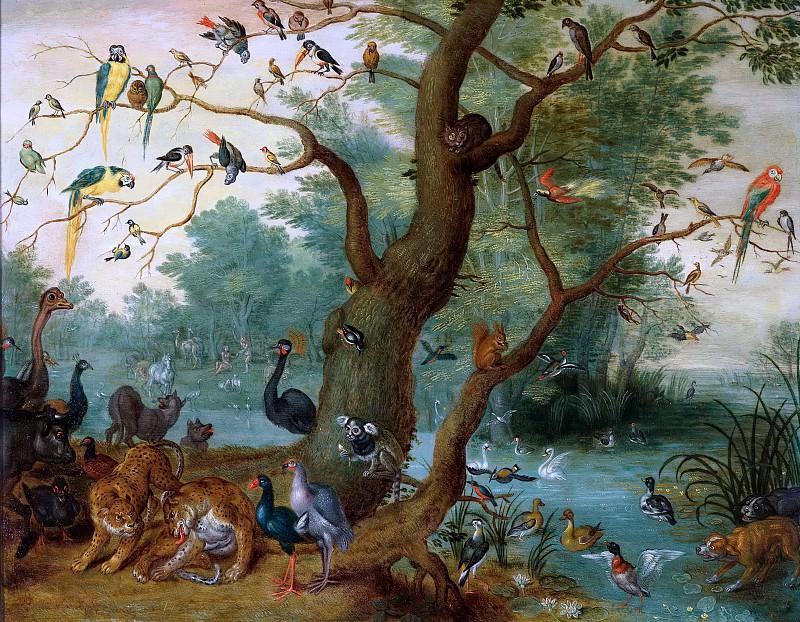 Paradisical landscape. Jan Brueghel the Younger