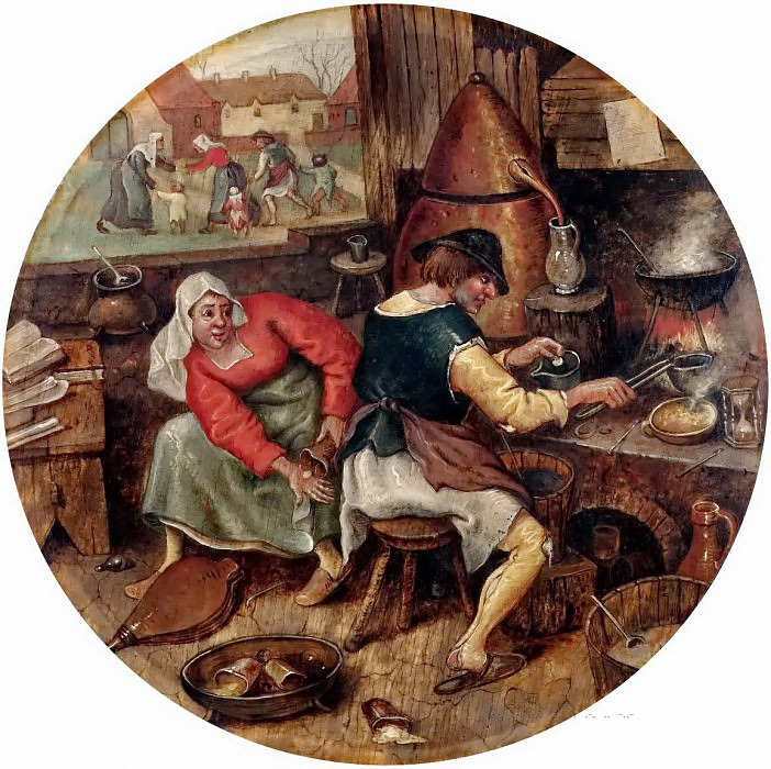 Alchemist. Jan Brueghel the Younger
