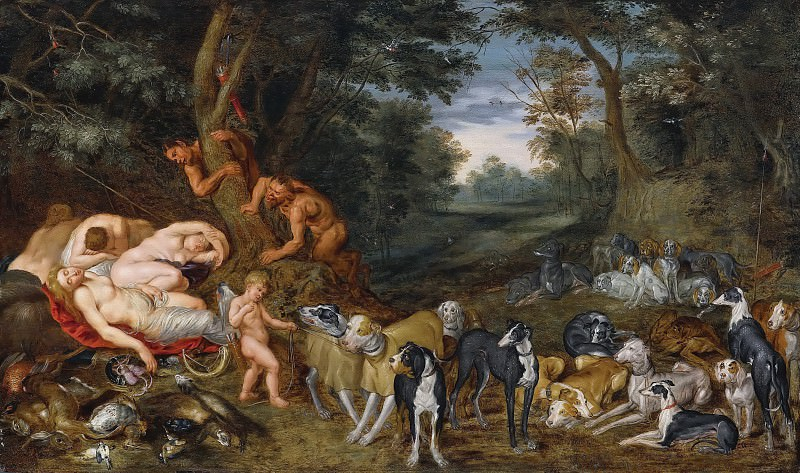 Sleeping Nymphs observed by Satyrs. Jan Brueghel the Younger