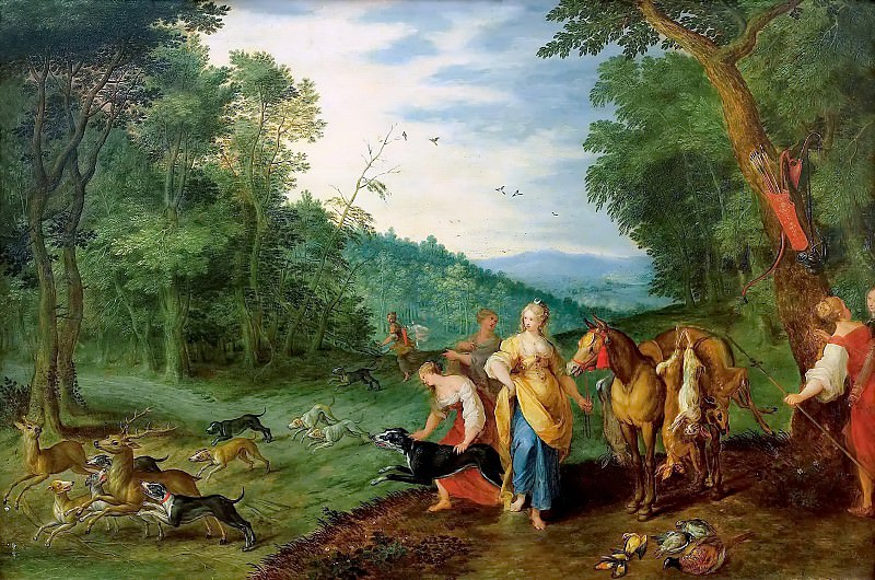 Diana on the hunt. Jan Brueghel the Younger