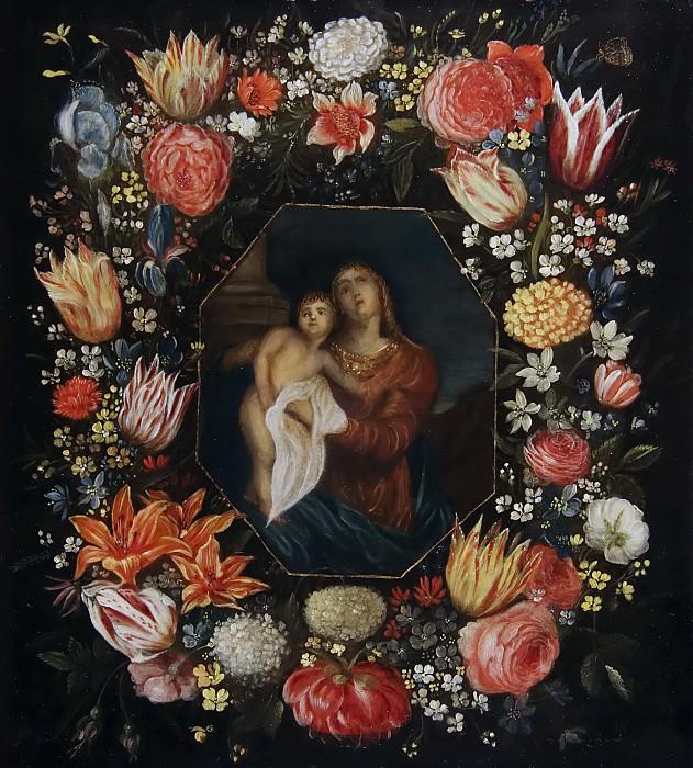Мадонна с Младенцем в цветочной гирлянде. Ян Брейгель Младший