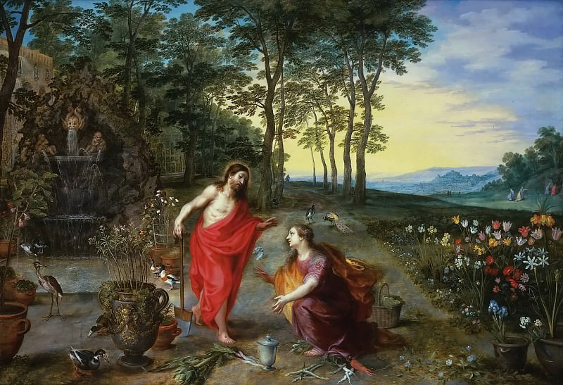 Noli me tangere. Jan Brueghel the Younger