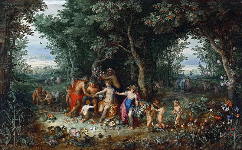 VENUS, CERES AND BACCHUS. Jan Brueghel the Younger