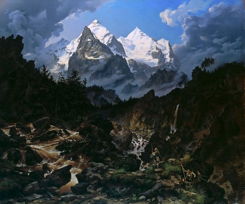 The Wetterhorn. Karl Eduard Biermann