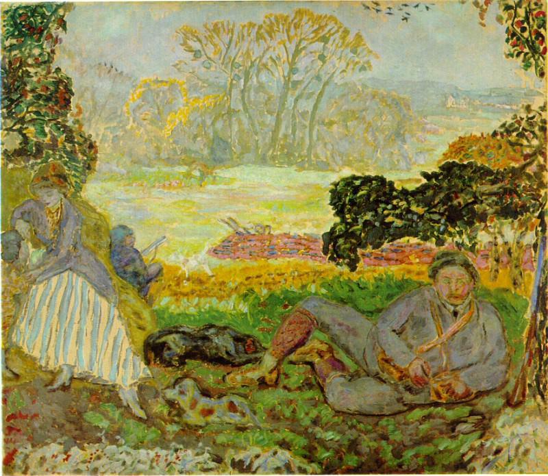Bonnard Jakten, ca 1915, 110x127 cm, Goteborgs konstmuseum. Пьер Боннар