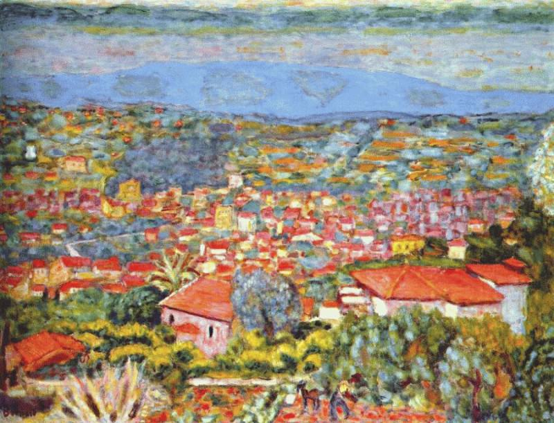 panoramic view of le cannet 1941. Pierre Bonnard