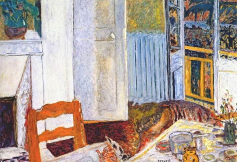 white interior 1932. Pierre Bonnard