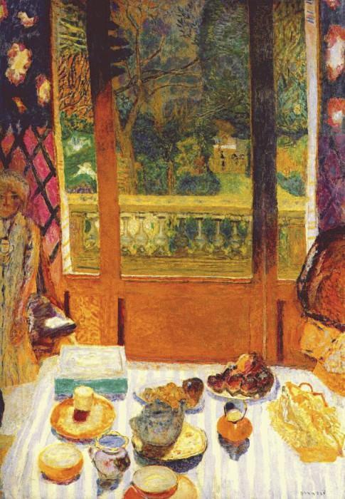 dining room overlooking the garden 1930 1. Pierre Bonnard