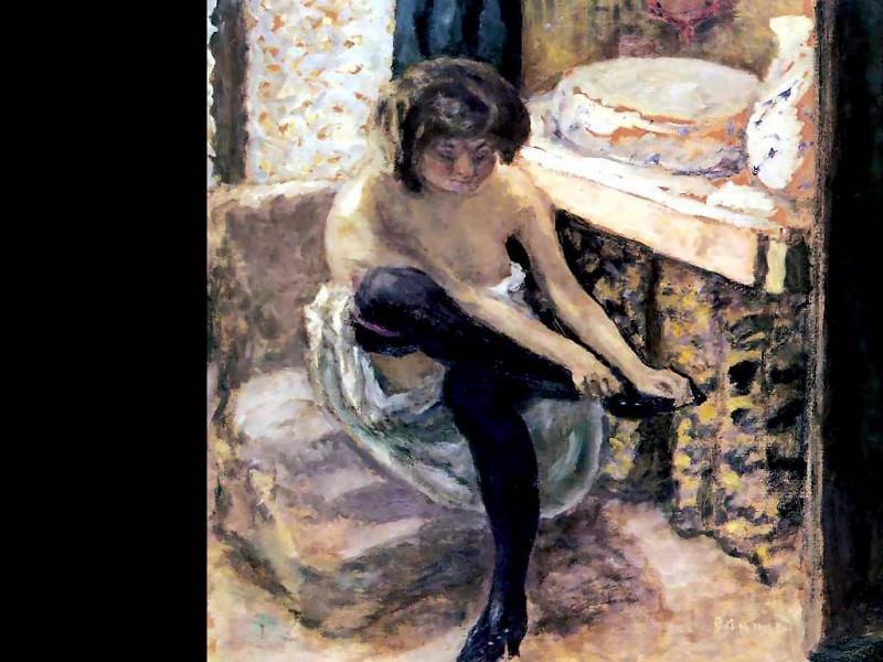 Женщина в черных чулках. Пьер Боннар