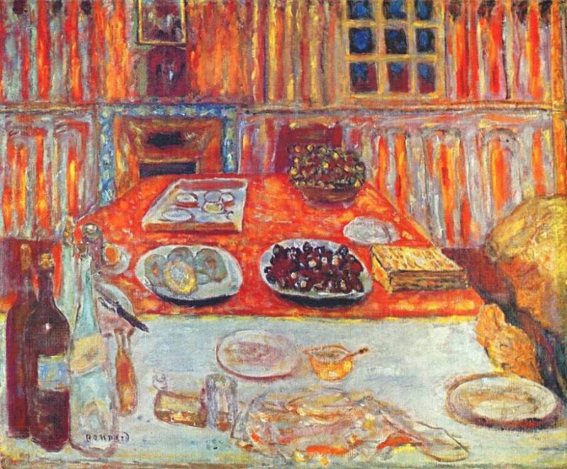 interior dining room 1942 6. Pierre Bonnard