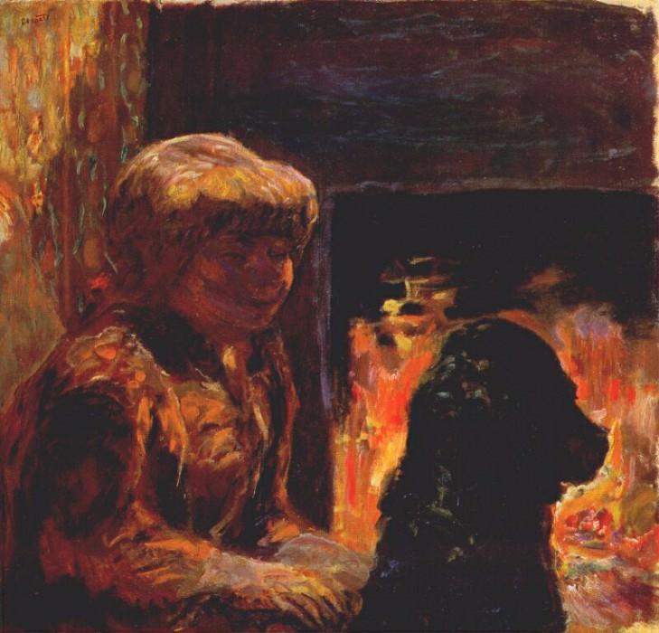 Женщина с собакой. Пьер Боннар